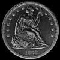 "United States ""Seated Liberty"" Silver Dollar (motto) (Obverse)"