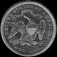 "United States ""Seated Liberty"" Silver Dollar (motto) (Reverse)"