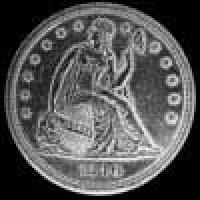 "United States ""Seated Liberty"" Silver Dollar (no motto) (Obverse)"