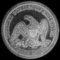 "United States ""Seated Liberty"" Silver Dollar (no motto) (Reverse)"