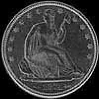 "United States ""Seated Liberty"" Silver Half Dollar (arrows) (Obverse)"