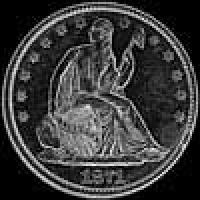 "United States ""Seated Liberty"" Silver Half Dollar (motto) (Obverse)"