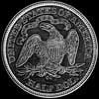 "United States ""Seated Liberty"" Silver Half Dollar (motto) (Reverse)"