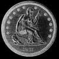 "United States ""Seated Liberty"" Silver Quarter Dollar (Obverse)"