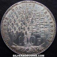 1993 Proof 100 French Silver New Francs