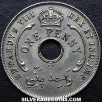 1936 H Edward VIII British West Africa Penny