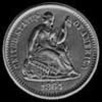 "United States ""Seated Liberty Half Dime"" Silver 5 Cents (legend) (Obverse)"