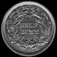 "United States ""Seated Liberty Half Dime"" Silver 5 Cents (legend) (Reverse)"