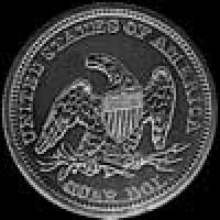 "United States ""Seated Liberty"" Silver Quarter Dollar (Reverse)"