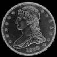 "United States ""Capped Bust"" Silver Half Dollar (reeded edge) (Obverse)"