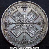 1928 George V British Silver Florin (2 Shillings)