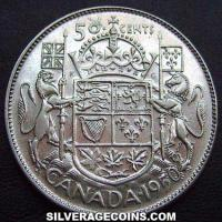 George VI Canadian Silver 50 Cents (Reverse)