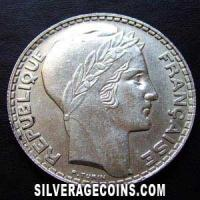 French Silver 20 Francs (Obverse)