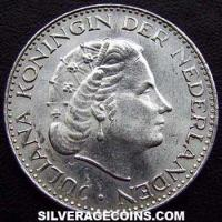 Netherlands Juliana Silver Gulden (Obverse)