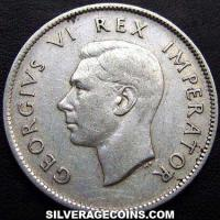 1947 George VI Sourth African Silver 2 Shillings