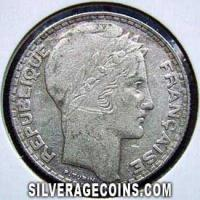 French Silver 10 Francs (Obverse)