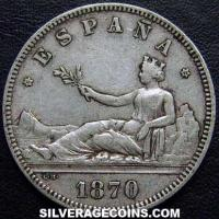 Provisional Government Spanish Silver 2 Pesetas (Obverse)