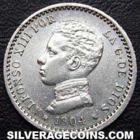 "Alfonso XIII ""Cadete"" Spanish Silver 50 Cents (Obverse)"