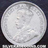 "George V Canadian Silver ""Dime"" 10 cents (Obverse)"