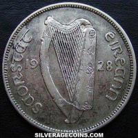 Irish Silver Half Crown (Obverse)