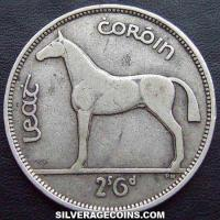Irish Silver Half Crown (Reverse)
