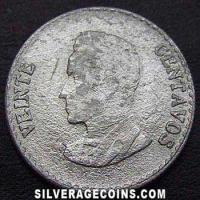 Colombian Silver 20 Centavos (Reverse)