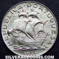 Portuguese Silver Two and a Half Escudos (Obverse)