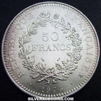 50 French Silver New Francs (Hercules) (Obverse)