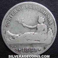 Provisional Government Spanish Silver Peseta (Provisional Government) (Obverse)