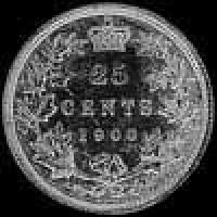 Victoria Canadian Silver 25 Cents (Reverse)