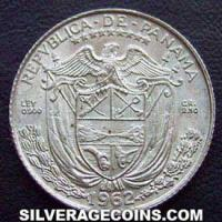 Panama Silver Tenth Balboa (low relief) (Obverse)