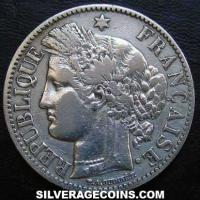 French Silver 2 Francs (Liberty Head, .835) (Obverse)