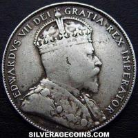 Edward VII Canadian Silver 50 Cents (Obverse)
