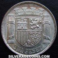 Second Republic Spanish Silver Peseta (Reverse)