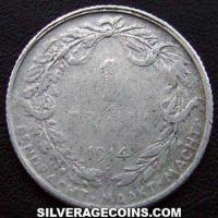 Albert I Belgian Silver Franc (Dutch, coin alignment) (Reverse)