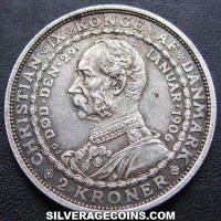 Frederik VIII Danish Silver 2 Kroner (Ascenssion to the throne) (Reverse)